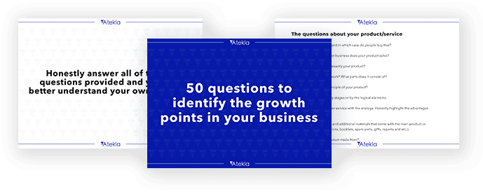 The 50 QUESTIONS to identify the growth points in your business