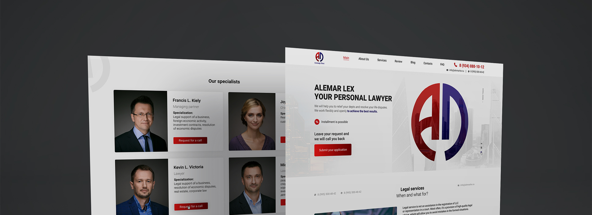 Turnkey landing page and website Alemar Lex